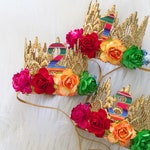 Birthday FIESTA flower crown || MINI Sienna crown headband || customize ANY age || Mexican || My first fiesta || taco party