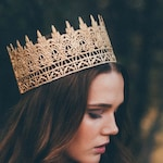 Jaden || full size gold lace crown || photography prop|| Child-Adult ||custom sizes||  Love Crush Exclusive