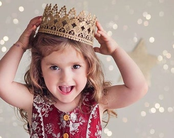 The Original Heavenly FULL SIZE gold lace crown || Child-Adult sizes || photography prop