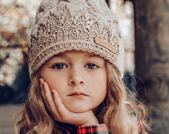 NEW Pom Tiara Beanies    cable knit beanie with faux fur pom  one size fits most children - adults   choose ONE   