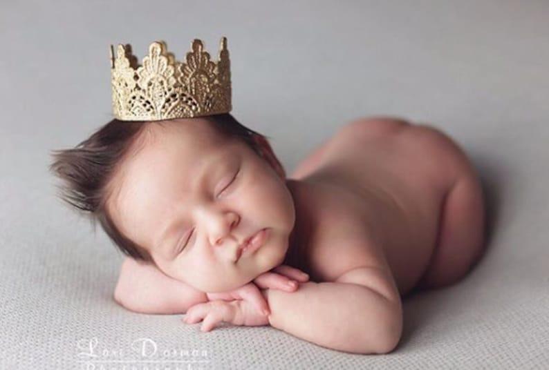 Ready to Ship  Avery MINI lace crown  newborn photography image 0