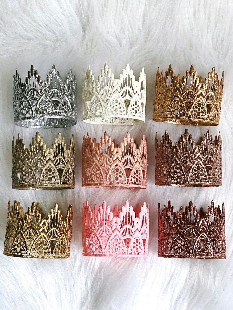 Ready to Ship  REMASTERED  MINI Sienna lace crown image 0