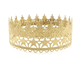 New U N I S E X Remastered Tallulah Star full size lace crown    toddler-adult sizes    Love Crush Exclusive
