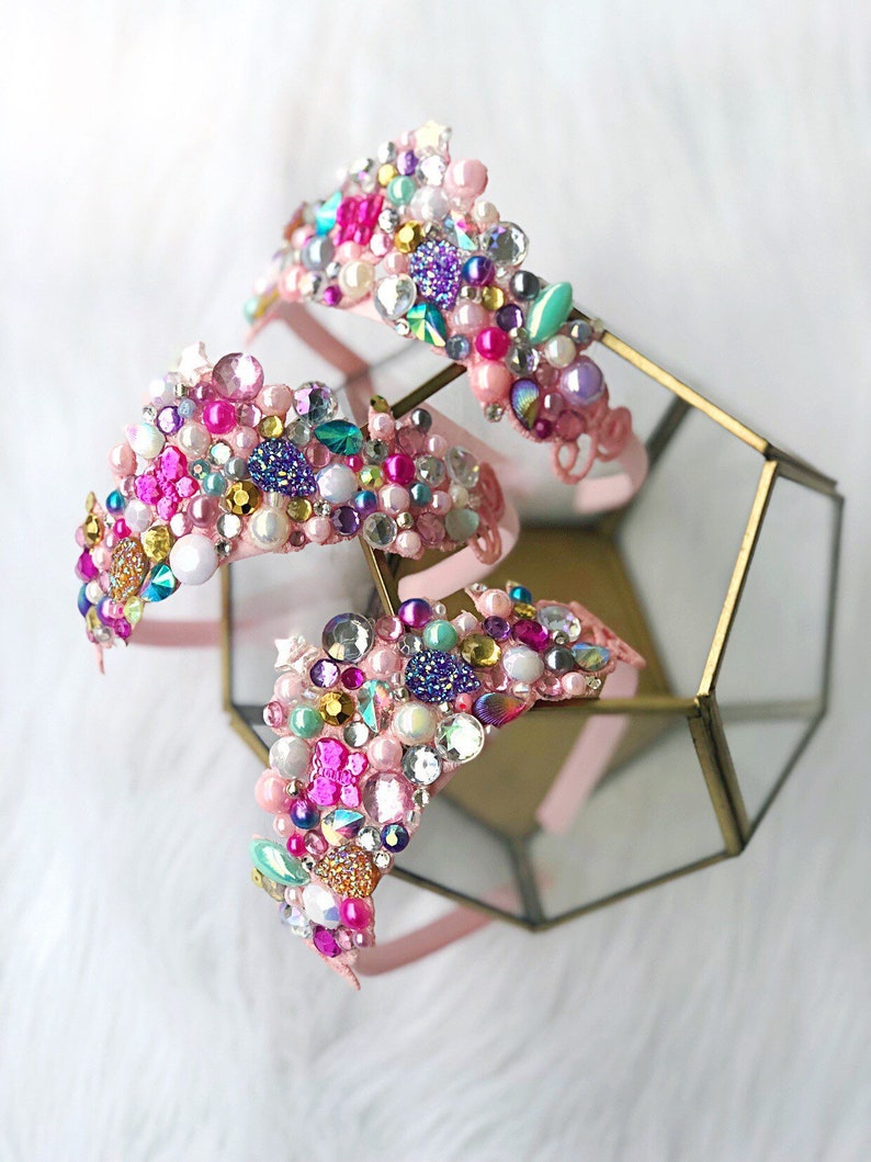 NEW  Jewel Crush MINI bedazzled Azalea lace tiara headband image 0