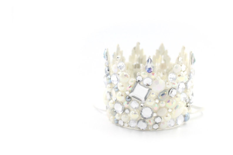 NEW  Jewel Crush  bedazzled mini Sienna lace crown image 0