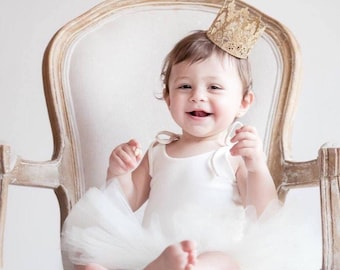 Ready to Ship || WASHABLE || MINI Sienna||  newborn 1st birthday vintage lace crown ||headband option|| photography prop(all ages)