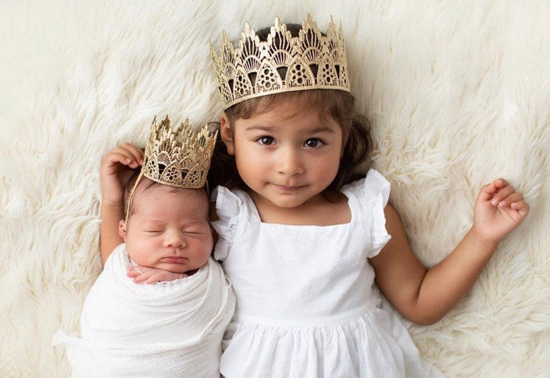 Big Sister Little Sister SIENNA crown set of 2  Mommy and Me image 0