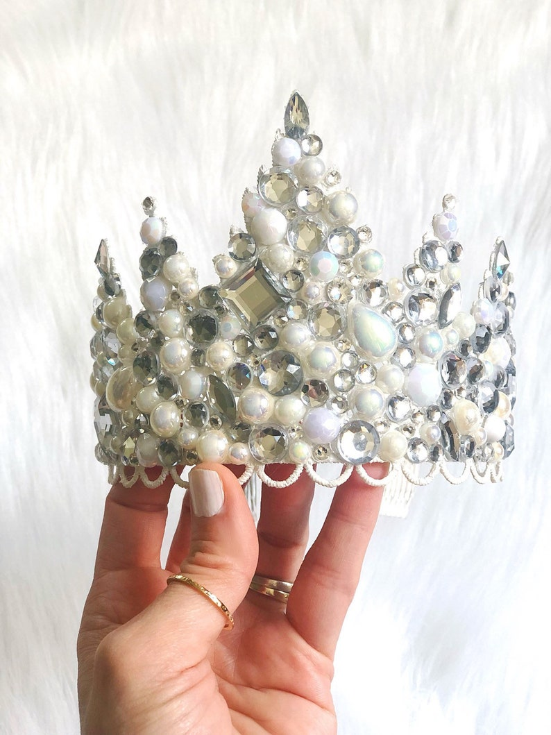 NEW  Jewel Crush  bejeweled Sevyn lace tiara   pearl  image 0