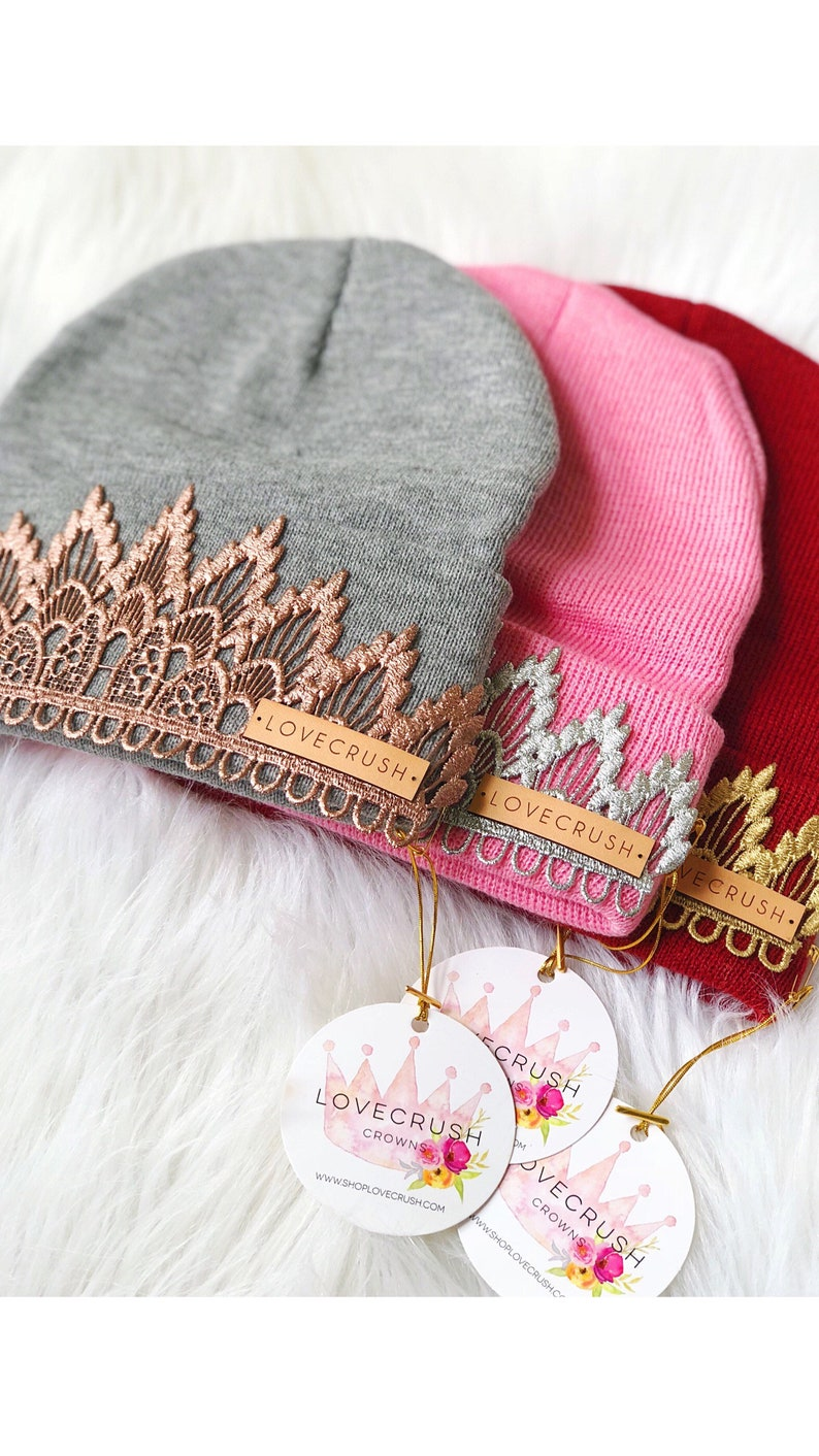 Tiara Beanies  Choose ONE  one size fits most children image 0