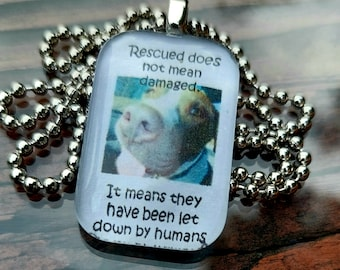 Rescuing does not mean damaged Glass Pendant Necklace