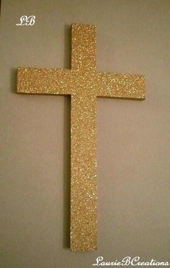 GOLD/Antik GOLD-Glitter Kreuz dekorative Wand Kreuz in Super   Etsy