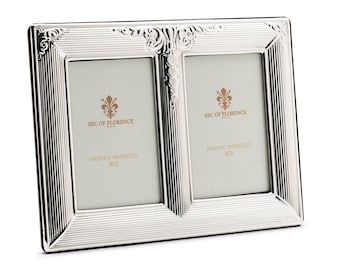 """2,4""""x 3,5"""" inches Wedding Gift Handmade 925 Sterling Silver Photo Picture Frame 7416 / 9x13x2 GB and for Birthday gift and Anniversary"""