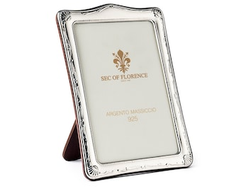 """6""""x 4"""" inches Handmade 925 Sterling Silver Photo Picture Frame 7376 10x15 GB new for Wedding gift ,Birthday gift and Anniversary gift"""