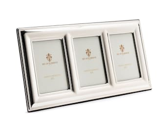 """2,4""""x 3,5"""" inches Wedding Gift Handmade 925 Sterling Silver Photo Picture Frame 7413 /6x9x3 GB and for Birthday gift and Anniversary"""