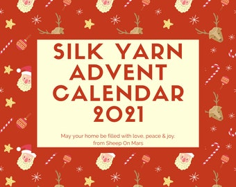 Christmas yarn advent calendar preorder, silk based yarn fingering weight, 25 handdyed mini skeins