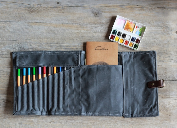 Zipper Case Pen Roll Up Case Birthday Gift Bullet Journal Supplies Pencil Roll Up Case Gift for Her