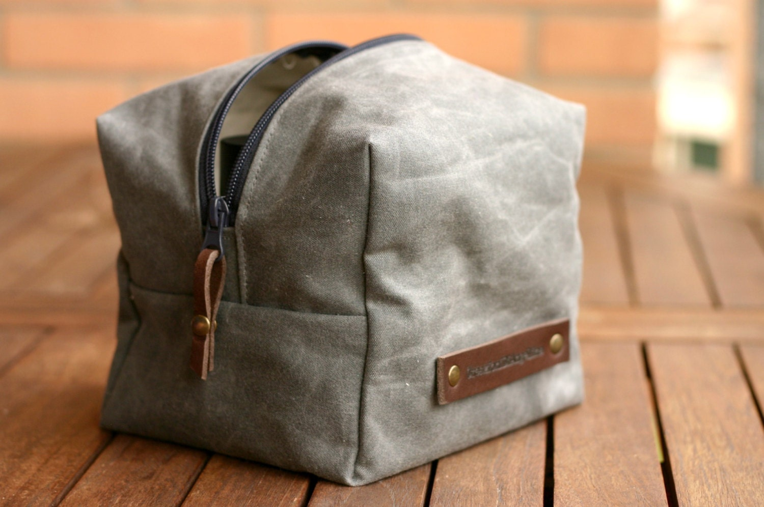Waxed Canvas Toiletry Toiletry Bag Fathers Day Waxed Etsy