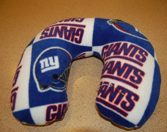 Neck Pillow--Head Rest--Made with New York Giant Fleece ad754735e