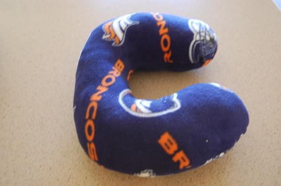 265e6c2ef67 Neck Pillow--Head Rest--Made with Denver Bronco Fleece