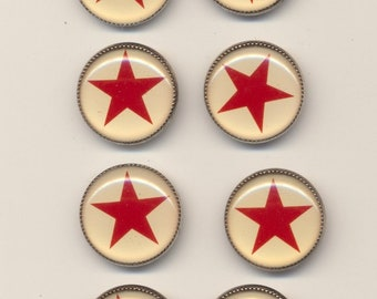 d0034bdbfc Vintage Winky   Dutch Buttons Set of 8 Stars 3 4 Inch