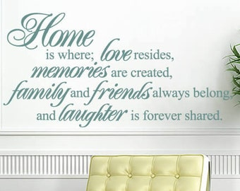 Home is Where Love Resides - Vinyl Wall Quote