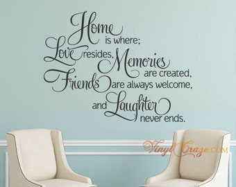 Home is where love resides (design2D) - Wall saying decal