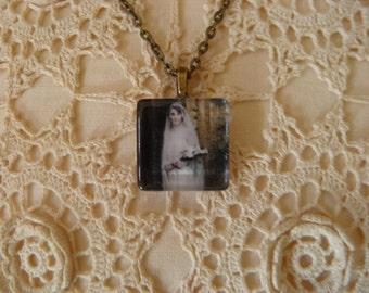 Lovely Lady Mary Crawley Wedding Dress Pendant Necklace-DOWNTON ABBEY