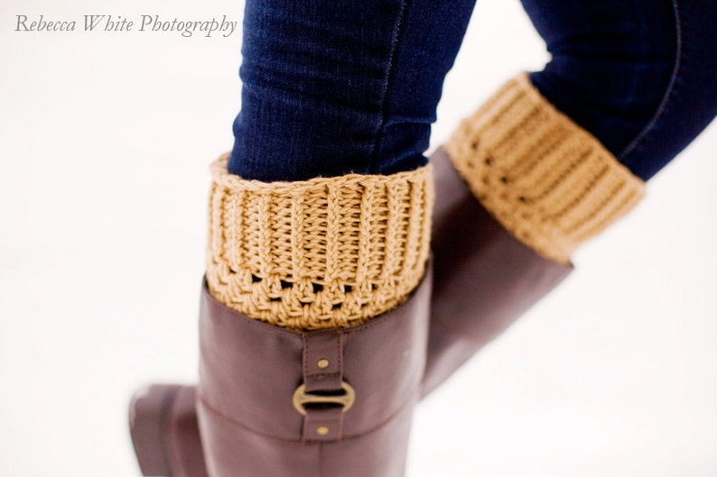 Instant Download Permission to Sell Finished Items CROCHET PATTERN PDF Crochet Boot Cuffs