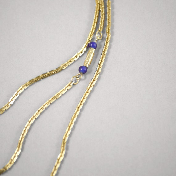 multi layer gold necklace Sarah Coventry