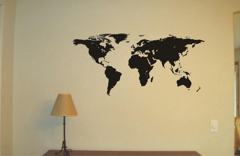 Duża Mapa świata Kalkomania Winylowa Naklejka ścienna Tatuaż ścienny