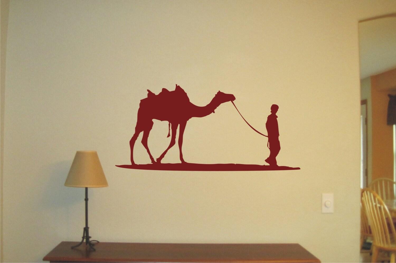 Boy and Camel Wall Sticker Vinyl Decal Wall Tattoo   Etsy