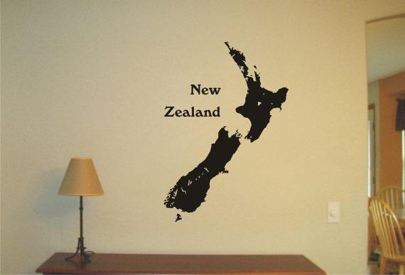 & New Zealand Vinyl Decal Wall Sticker Wall Tattoo