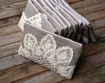 Wedding Clutch Set - Rustic Wedding - Vintage Wedding Clutch Set