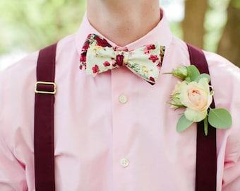 Custom Made Pre-tied Bow ties, floral bow ties, vintage bow ties, men's bow ties, wedding bow ties