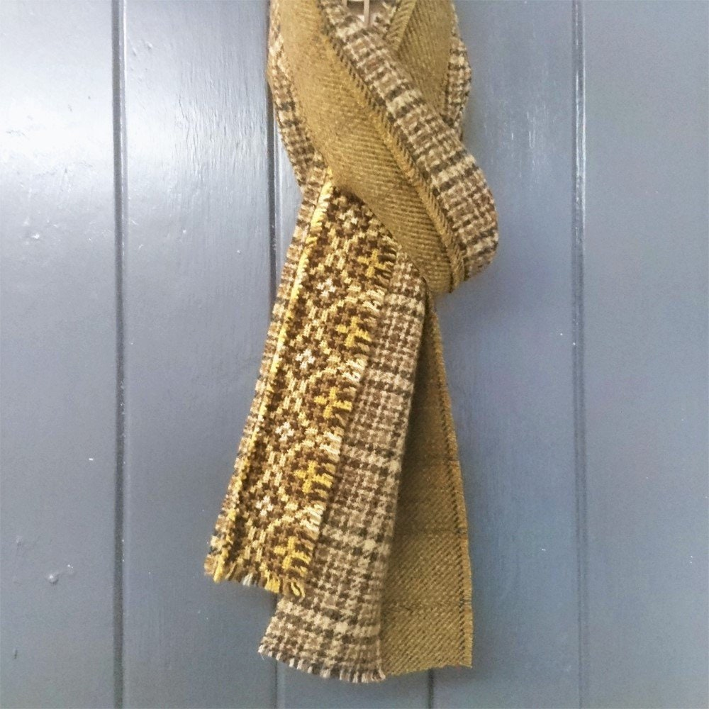 men s mustard yellow and olive green scottish tweed english and