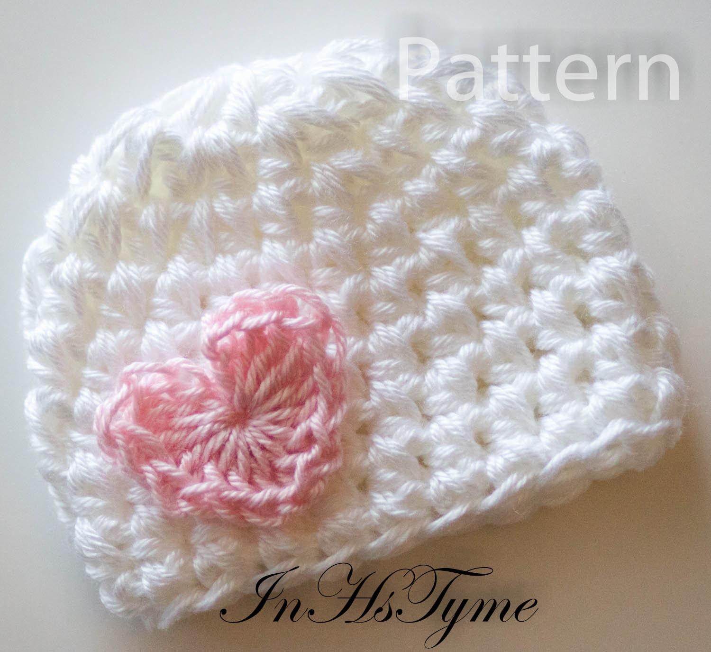 PDF CROCHET PATTERN Baby Hat Baby Girl Hat Newborn Beanie   Etsy
