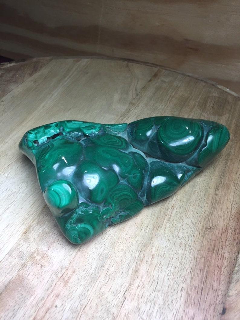 Malachite Polished Large Green Specimen Crystal