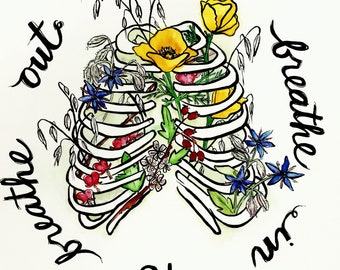 Poster - Grief Healing Herbs (12x12)