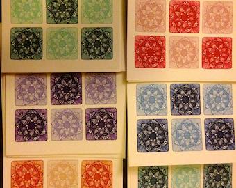 Card- Henna Lotus Cards (Set of 6)