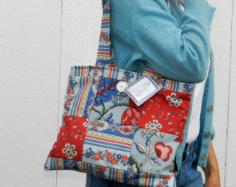 French Country Style Patchwork Tote