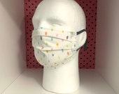 Washable Medical Face Masks Adult Child Color Dots Print