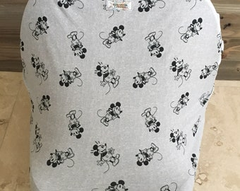 Stretchy car seat cover- carseat canopy cover- 4 in 1 - baby shower gift, mickey mouse