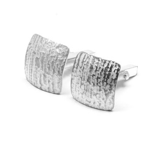 Nature Gifts For Him Sterling Silver Black Cufflinks Black Bark Wood Cuff Links Valentines Gift For Him