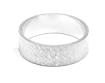 Criss Cross Sterling Silver Ring Personalized Ring Wedding Rings Textured Ring Wedding Ring Jewellery Commitment Ring Message Ring
