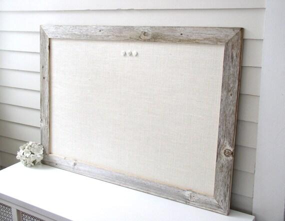 Barnwood Frame MAGNETIC Bulletin Board Reclaimed Recycled | Etsy