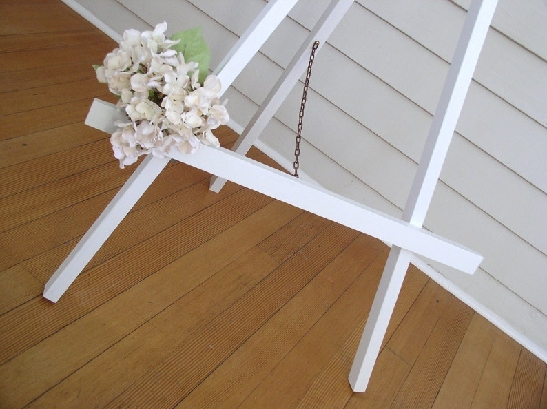 White Wedding Easel - 3-Foot Wooden Sign Display