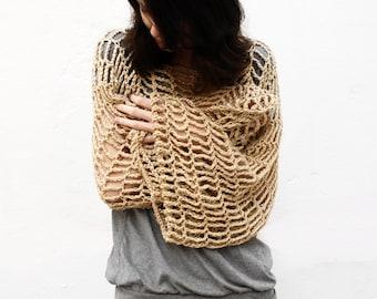 Cropped Sweater Crochet Pattern Convertible Cowl Scarf Shrug Crochet Pattern Small Medium Large XL XXL