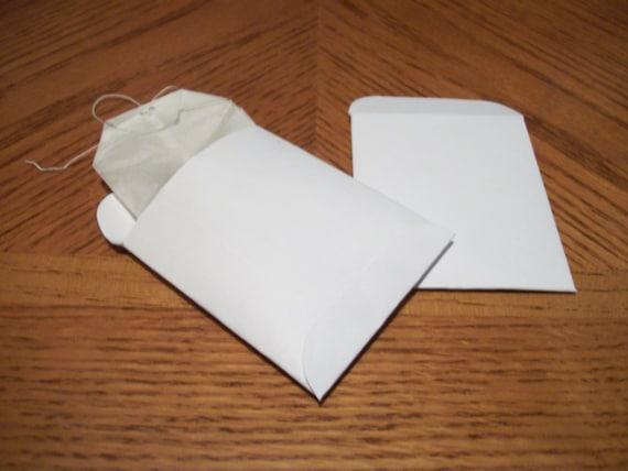 printable tea bag envelope template or seed packet template pdf png