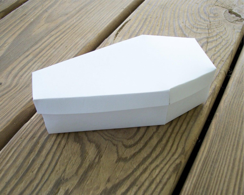 Coffin Printable Halloween Favor Box Blank Template Diy Etsy