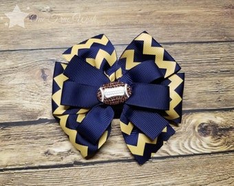 Home is where the heart is West Virginia WVU faux leather headband bow